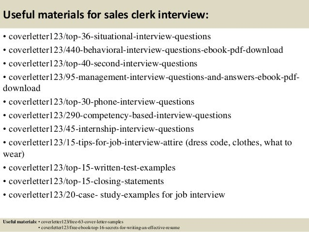 12 useful materials for sales clerk sample sales clerk cover letter