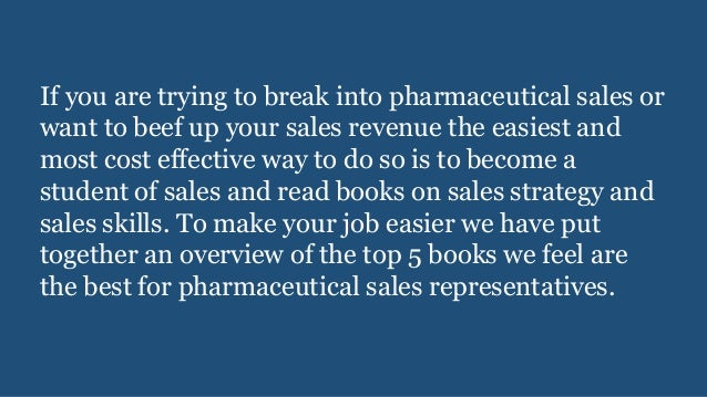 Top 5 sales training books for pharmaceutical sales representatives
