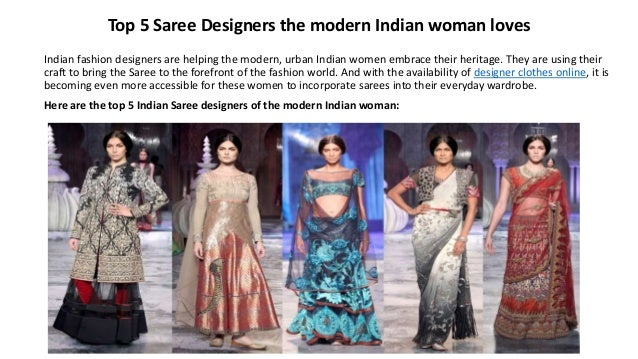 Top 5 Saree Designers The Modern Indian Woman Loves