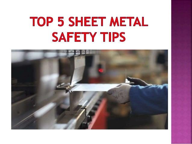 Top 5 Sheet Metal Safety Tips
