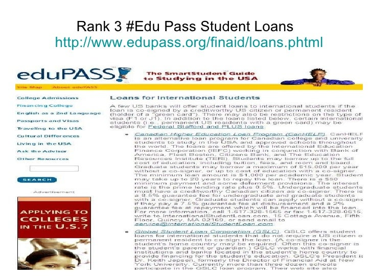 student loans without cosigner