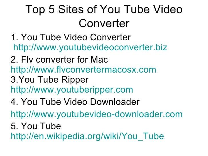Top Tube Sites