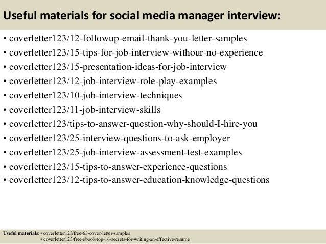 Top 5 social media manager cover letter samples