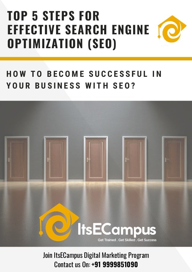 H O W T O B E C O M E S U C C E S S F U L I N Y O U R B U S I N E S S W I T H S E O ? TOP 5 STEPS FOR EFFECTIVE SEARCH ENG...