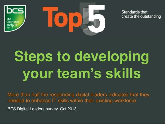 Steps to developing your team's skills More than half the responding digital leaders indicated that they needed to enhance...