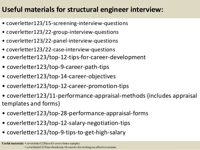 structural engineer cover letters