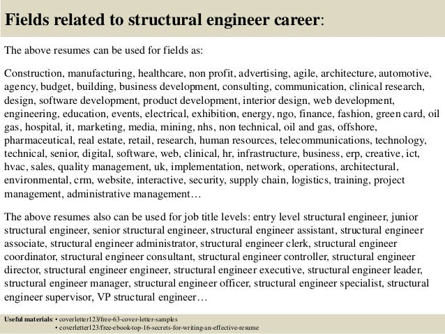 Top 5 structural engineer cover letter samples – Structural Engineer Job Description