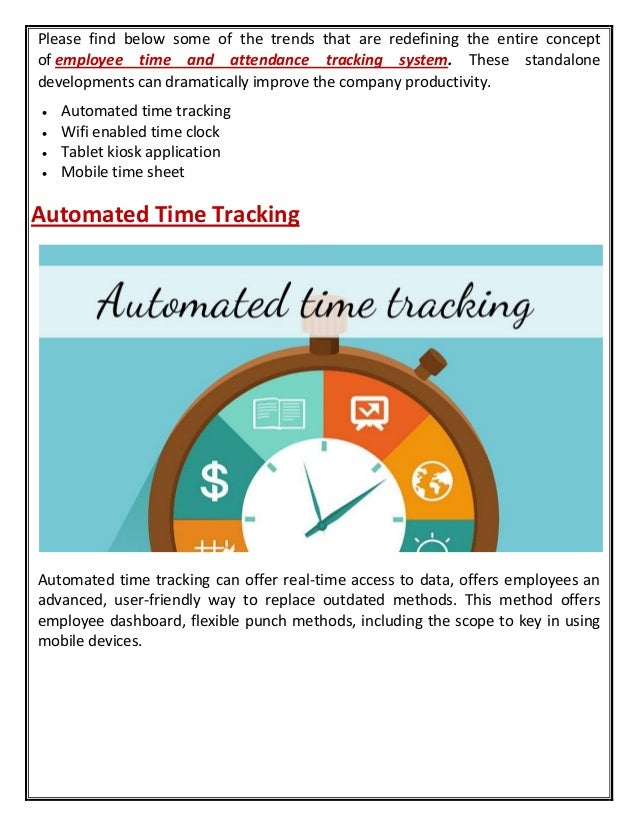 top 5 technology trends for employee time and attendance tracking