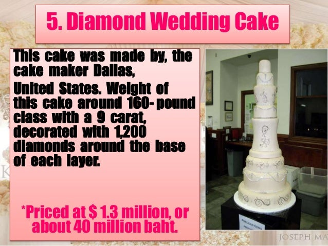 Top 5 The Most Expensive Wedding Cake