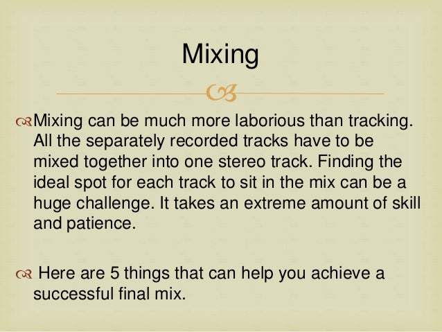 Pleasing Top 5 Tips For A Better Final Mix In The Home Audio Recording Studio Largest Home Design Picture Inspirations Pitcheantrous