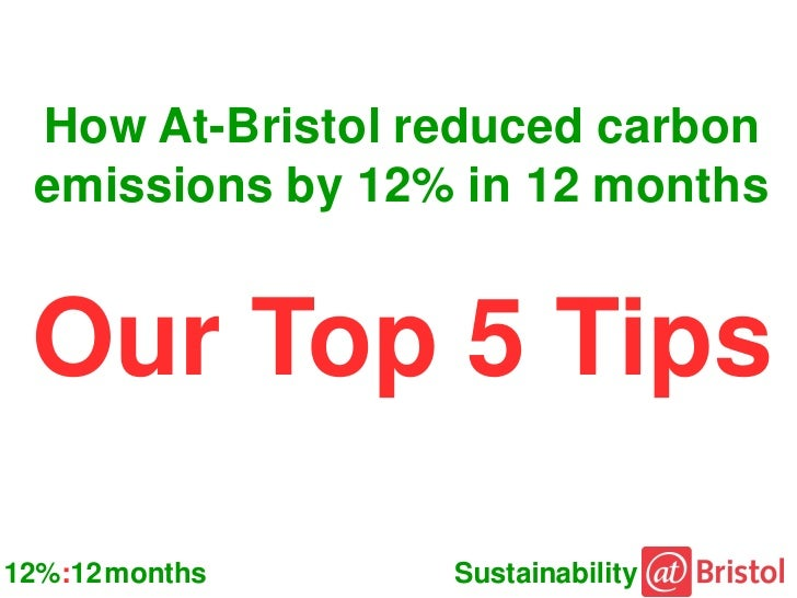 How At-Bristol reduced carbon emissions by 12% in 12 months Our Top 5 Tips12%:12 months    Sustainability