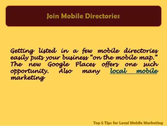 Guide Your Customers With Local, Mobile Marketing