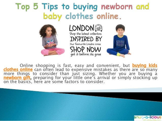 Top 5 Tips To Buying Newborn And Baby Clothes Online