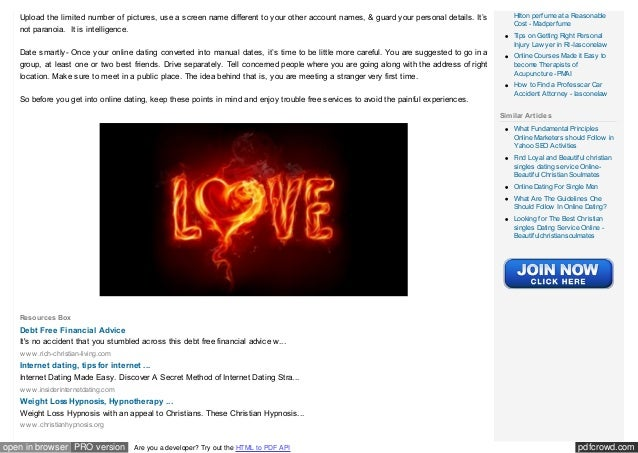 tips for Christian online dating