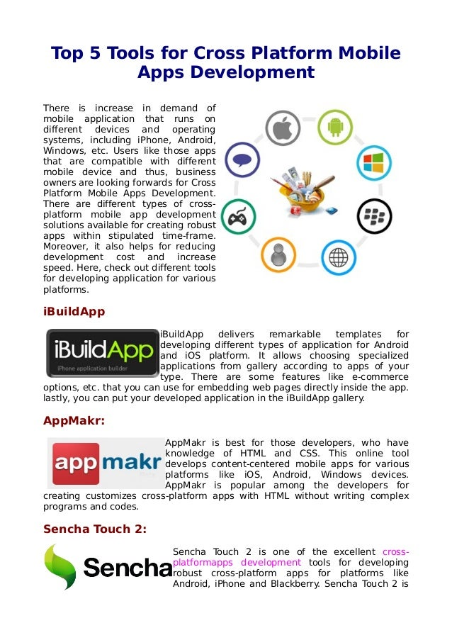 Top 5 tools for cross platform mobile apps development