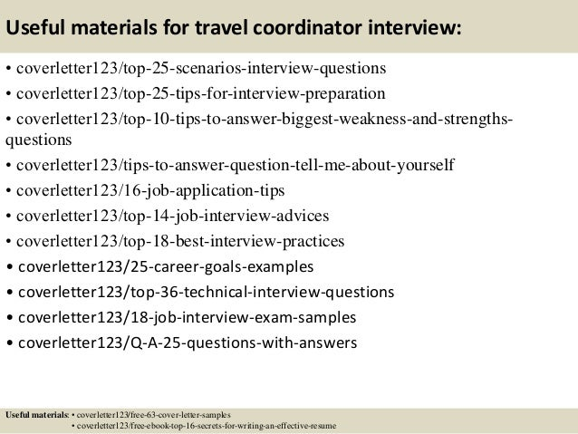 Top 5 Travel Coordinator Cover Letter Samples