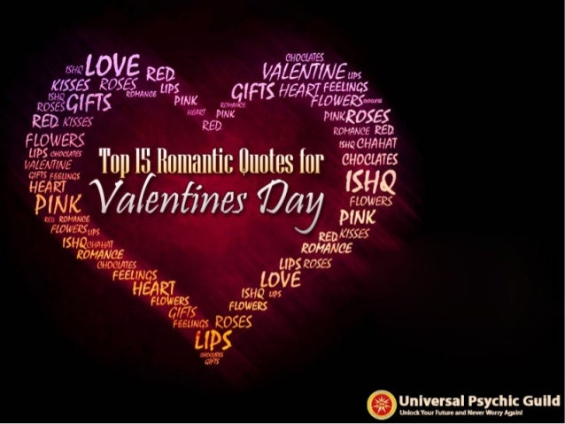 Top 15 Romantic Quotes For Valentines Day