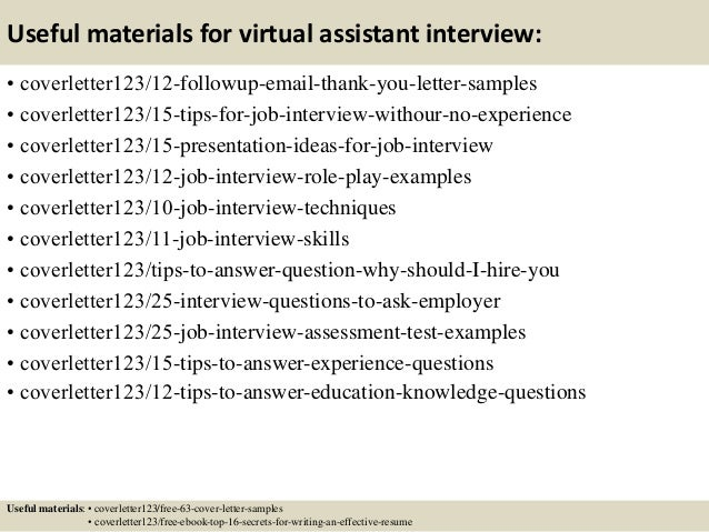 14 Useful Materials For Virtual Assistant