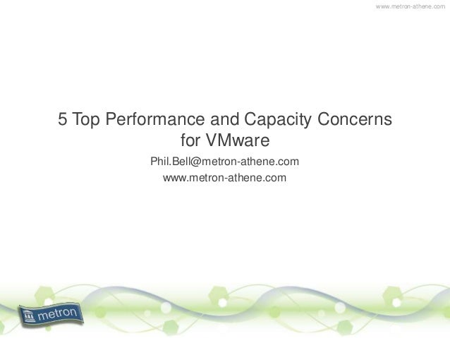www.metron-athene.com 5 Top Performance and Capacity Concerns for VMware Phil.Bell@metron-athene.com www.metron-athene.com