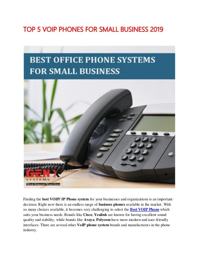 Best Voip Phones 2019 Top 5 voip phones for small business 2019