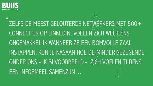 Top 5 voor Efficiënt Netwerken Slide 2