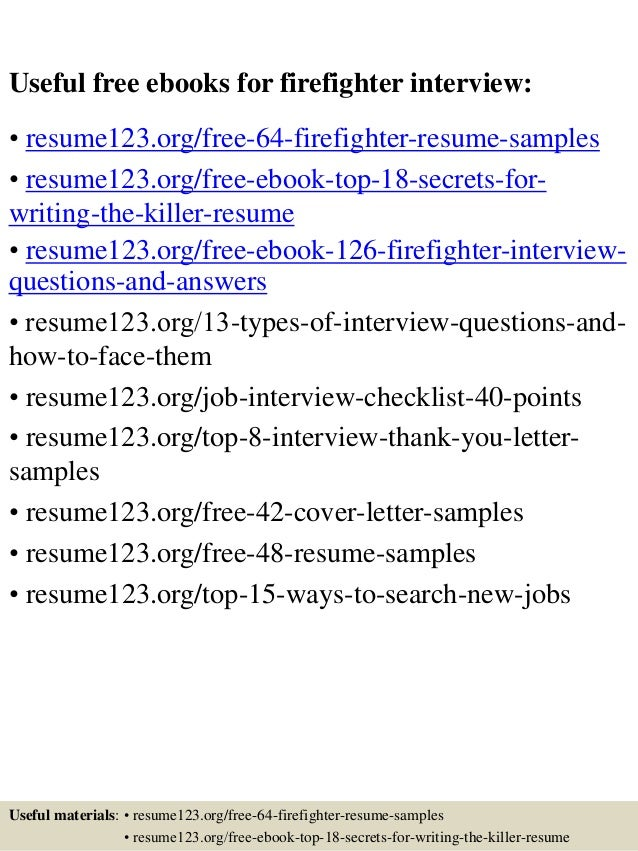 top 64 firefighter resume samples
