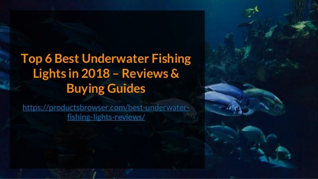 Top 6 Best Underwater Fishing Lights in 2018 – Reviews & Buying Guides https://productsbrowser.com/best-underwater- fishin...