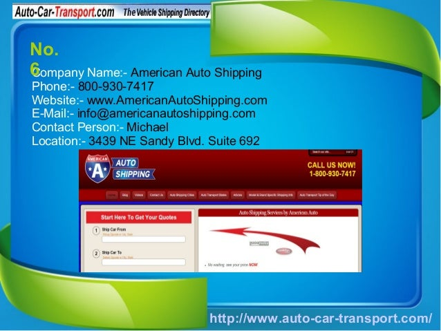 Top 6 Car Shipping Companies In USA