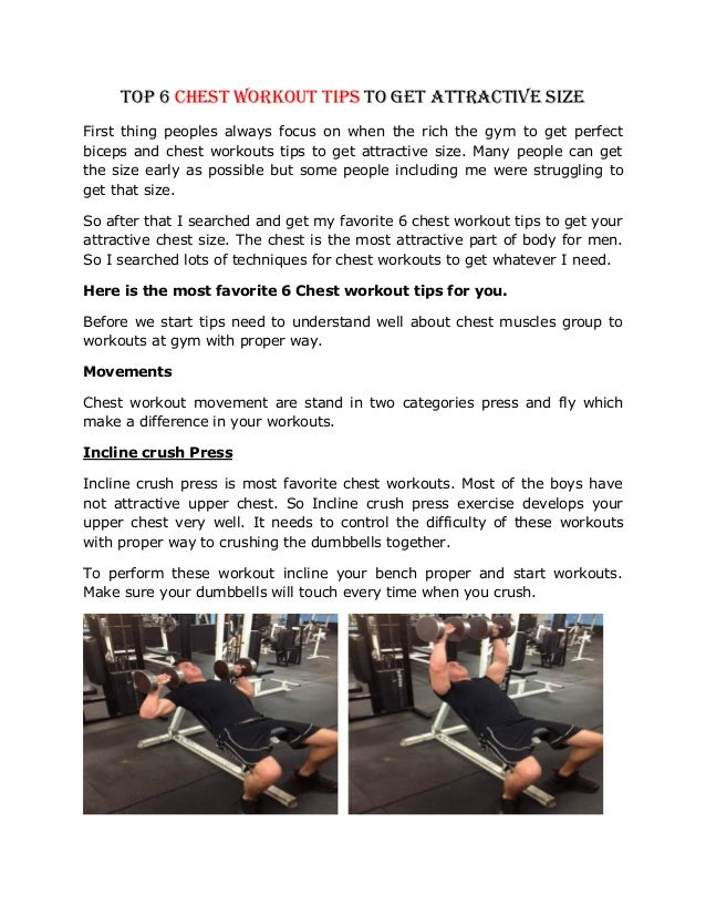 Top 6 Chest Workout Tips To Get Attractive Size First Thing Peoples Always Focus On When