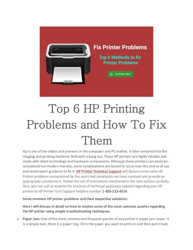 Top 6 HP Printing Problems and How To Fix Them