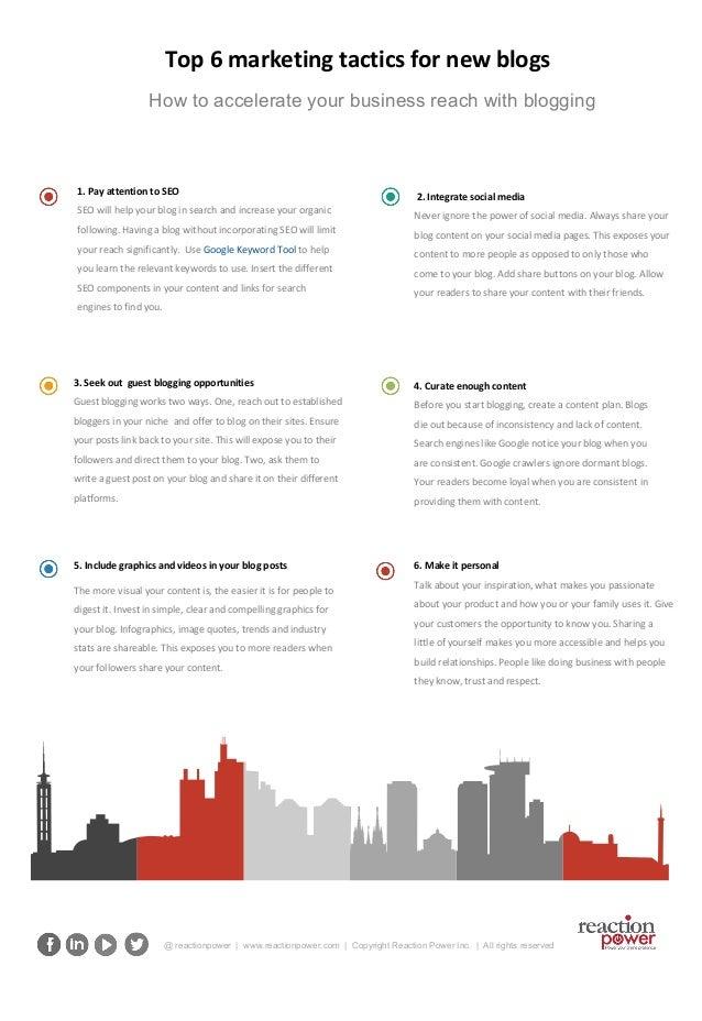 Top 6 Marketing Tactics for New Blogs