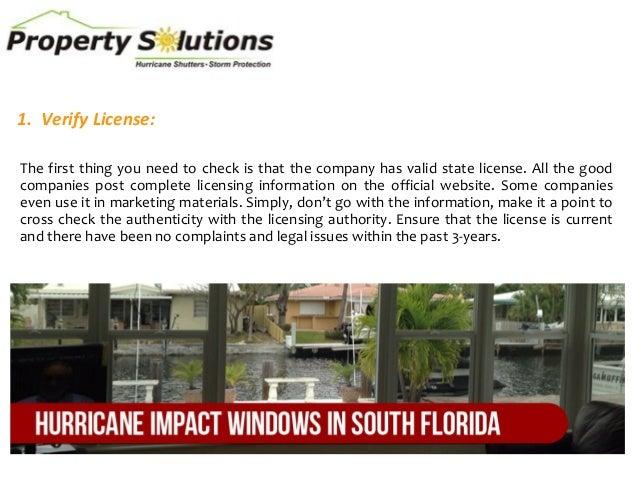 Top 6 tips for hiring an impact window contractor Slide 2