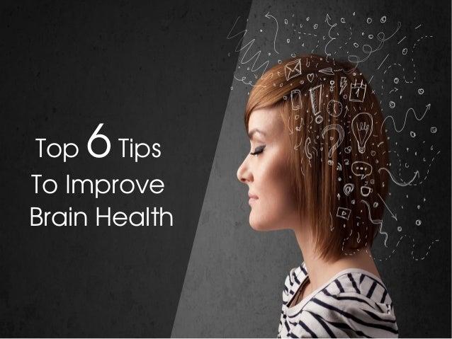 Top6Tips ToImprove BrainHealth