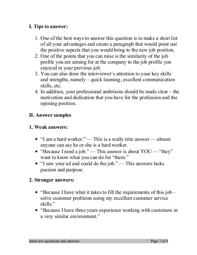 interview questions and answers page 6 of 9 7