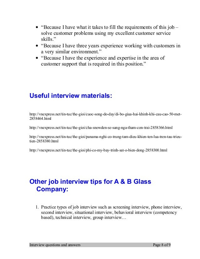 Stronger Answers: Interview Questions And Answers Page 7 Of 9; 8.