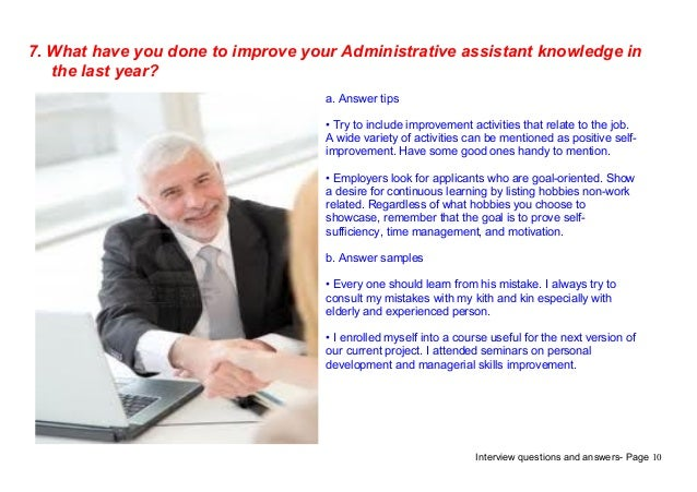 interview questions and answers - Administrative Assistant Interview Questions Answers