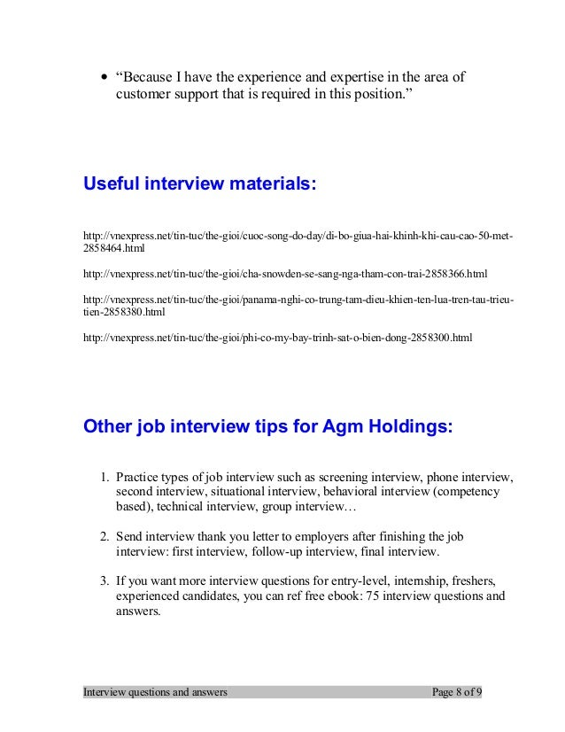 Nice Interview Questions And Answers Page 7 Of 9; 8.