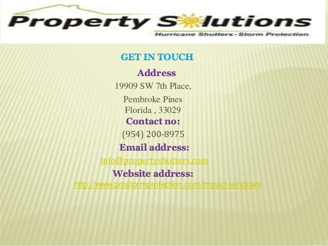 GET IN TOUCH  Address  19909 SW 7th Place,  Pembroke Pines  Florida , 33029  Contact no:  (954) 200-8975  Email address:  ...