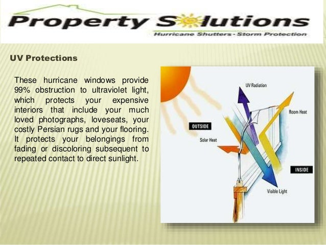 UV Protections  These hurricane windows provide  99% obstruction to ultraviolet light,  which protects your expensive  int...