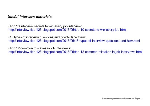 11. Useful Interview ...  Dental Assistant Interview Questions