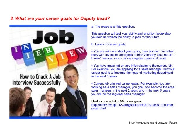 Top 7 deputy head interview questions answers