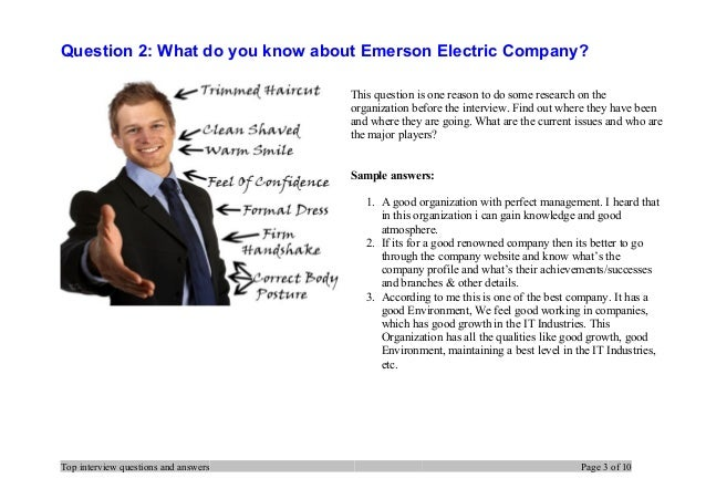 Question 2: What Do You Know About Emerson Electric Company?