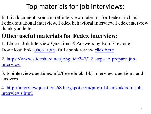 fedex interview 4 top materials for job
