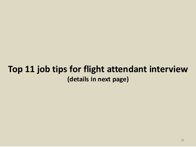 56 top 11 job tips for flight attendant interview - Flight Attendant Interview Questions Interview Tips And Answers