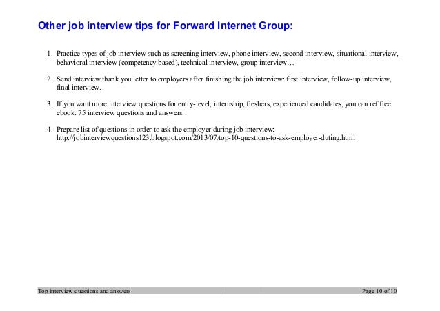 10 other job interview