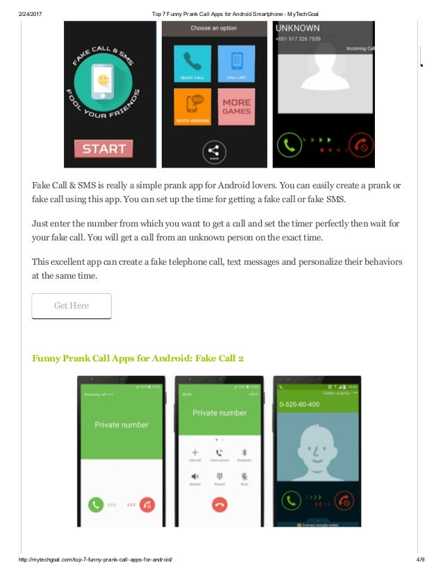 Top 7 funny prank call apps for android smartphone