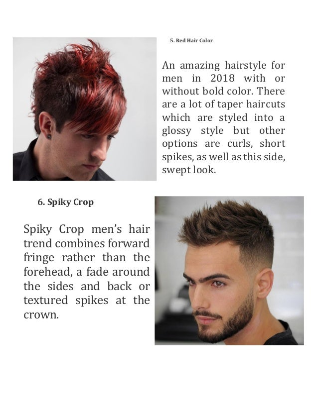 Top 7 hairstyles for men in 2018