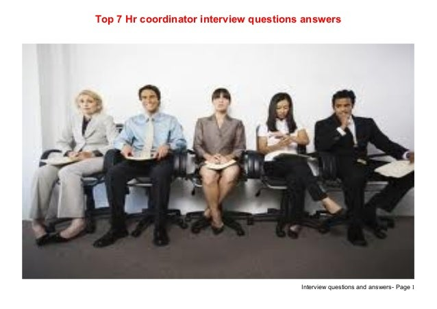 hr coordinator interview questions and answers pdf