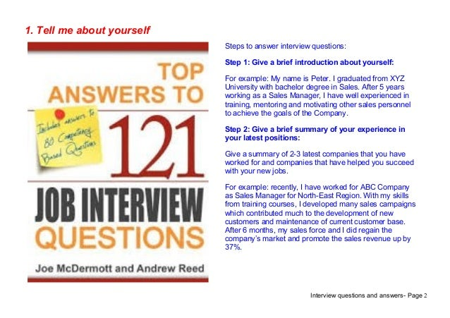 ... Journalist Interview Questions Answers; 2. Interview Questions ...