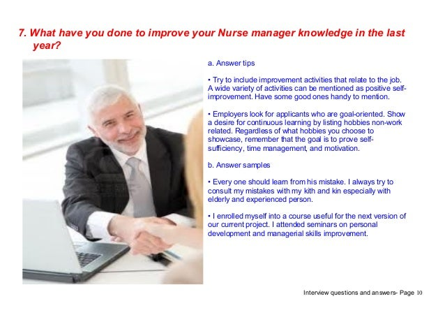 nurse manager job interview questions